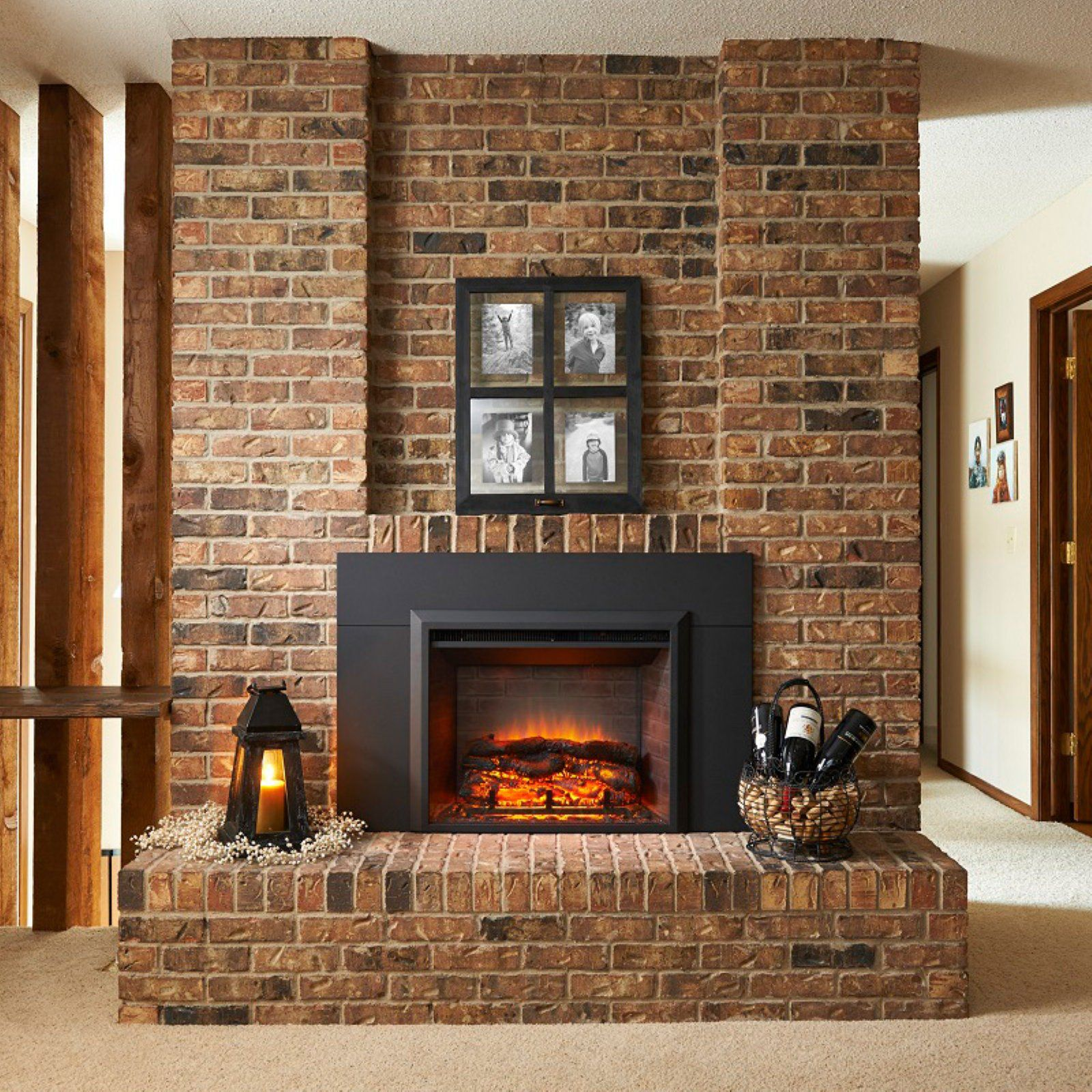 Outdoor Greatroom Electric Gallery Fireplace With Surround Size