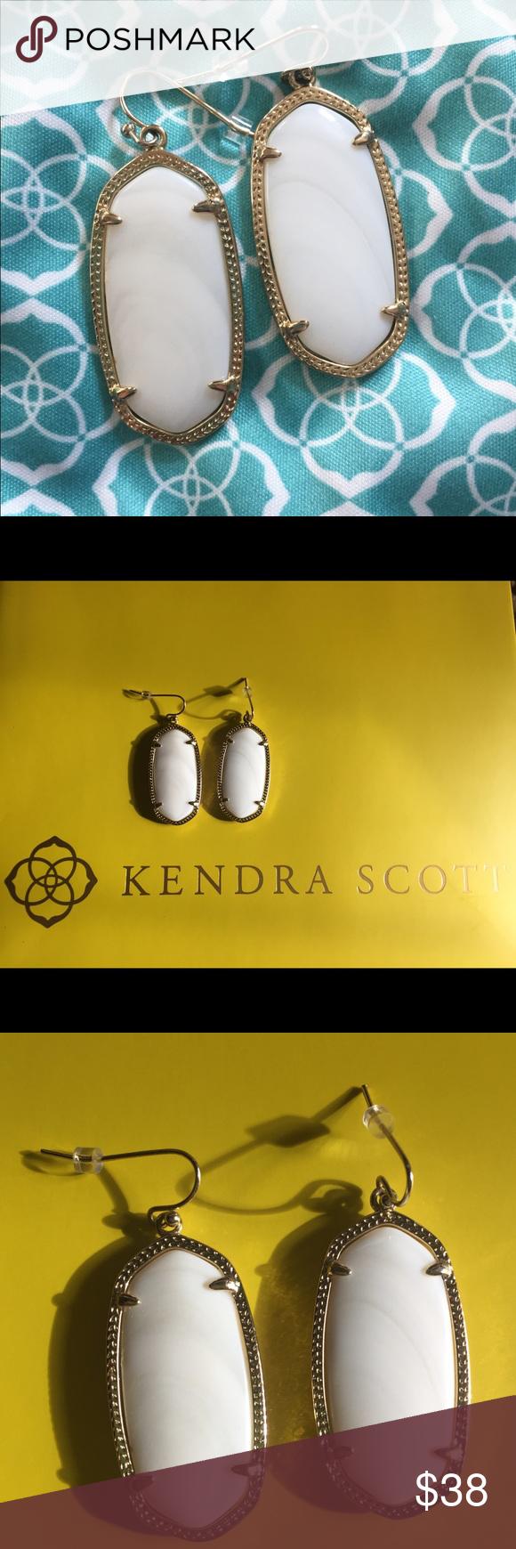 Kendra Scott Elle Earrings Custom oval stones in a thin