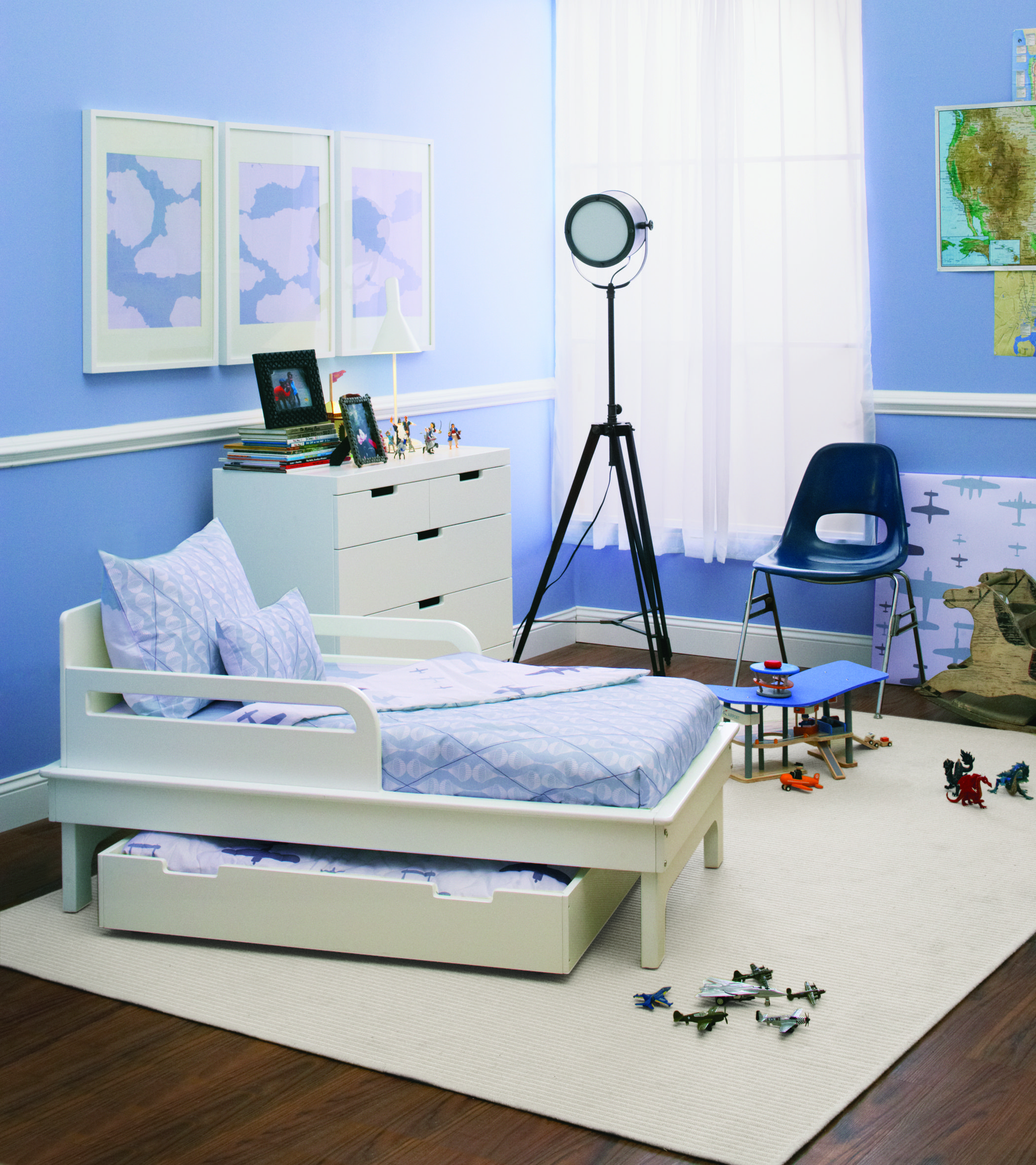 Cool Blue Room Featuring The Sahara Trundle