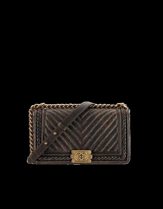af479d316bea Chanel Brown Chevron Boy Braided Old Medium Flap Bag