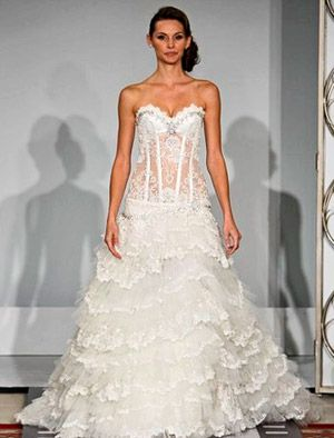 see through corset wedding dresses