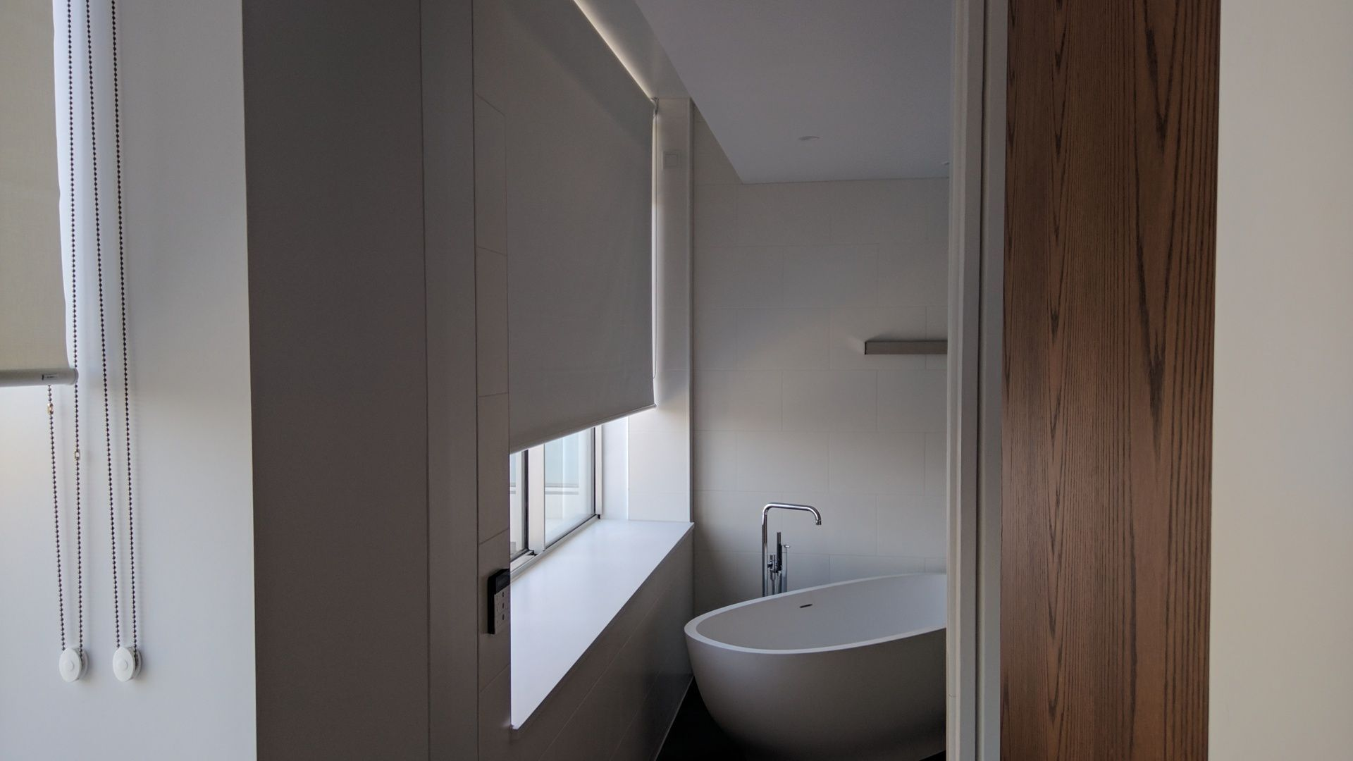 blackout roller blind fitted for bathroom window in apartment in the rh pinterest com