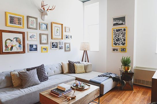 20 Of The Coolest Rooms In New York City Grey ceiling, Yellow