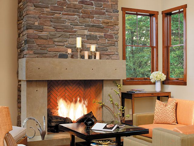 stone fireplace and concrete mantle stone fireplaces in 2019 rh pinterest com