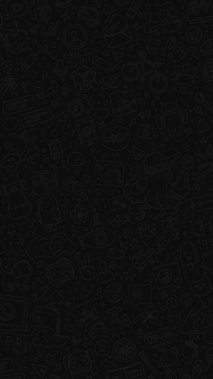 Whatsapp Wallpaper Dark Mode Hd Desain Vektor Wallpaper Ponsel Kata Kata Indah