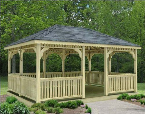 20 X 24 Treated Pine Rectangular Gazebo By Fifthroom 14399 00