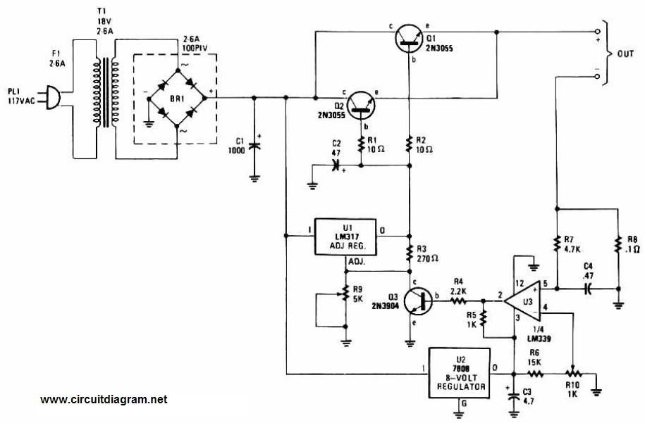 Adjustable Regulated Battery Charger