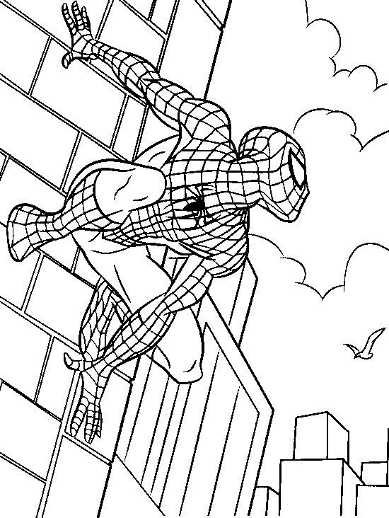 Spiderman Was Lurking Enemy Of Coloring Pages