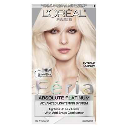 L Oreal Paris Feria Absolute Platinum Advanced Lightening System With Anti Brass Conditioner 1 Kit In 2021 At Home Hair Color Cool Blonde Hair Platinum Hair Color