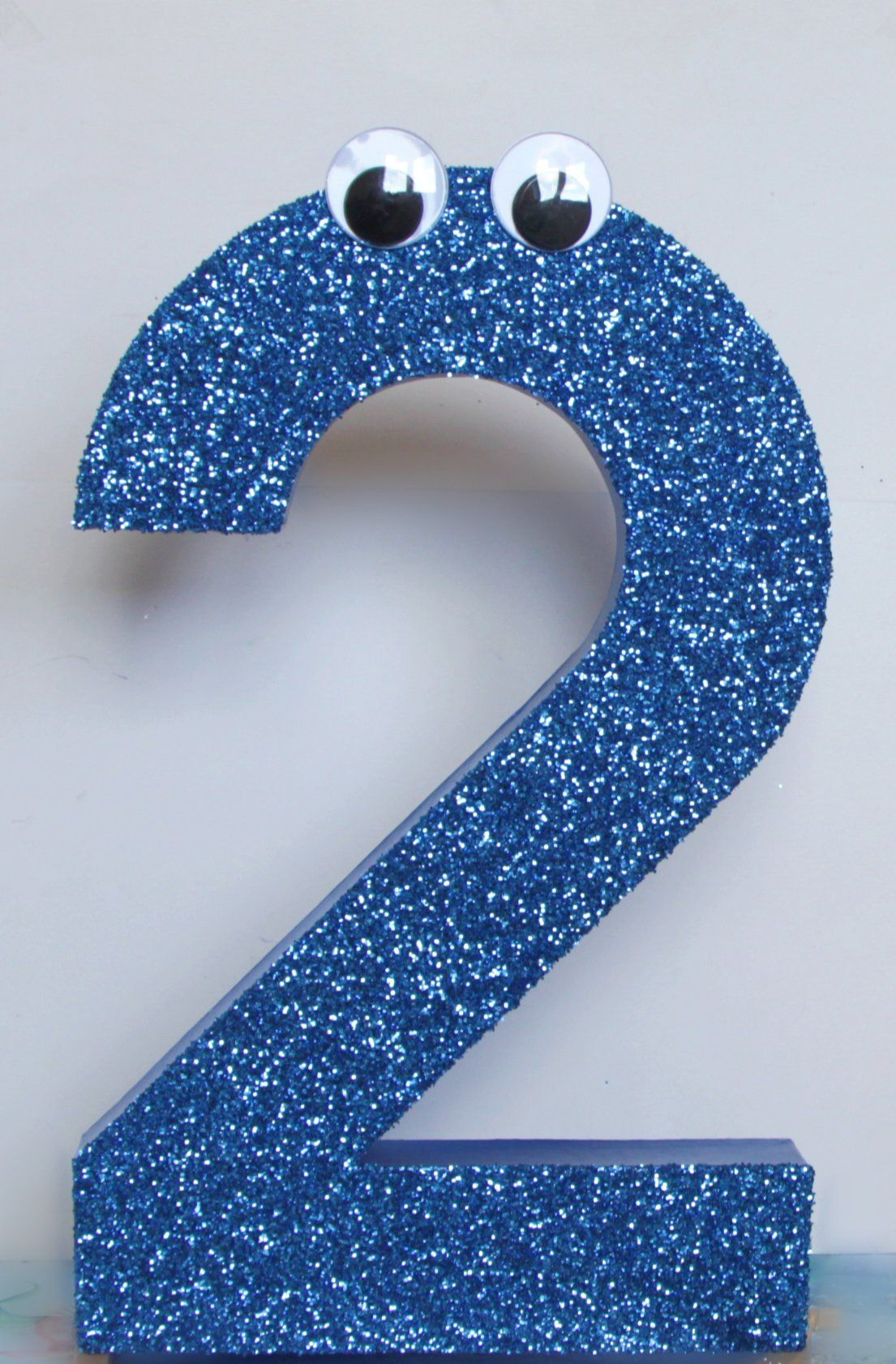 Number 2 Photo Prop Blue Glitter Number 2 Numbers 16
