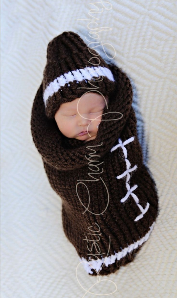 looming football hat | Loom Knitted Cocoon and Hat created by me ...