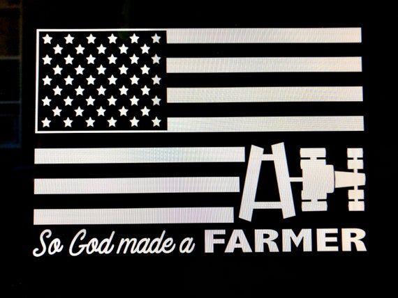 So God made a Farmer Version of our original design. Ag Flag Decal.