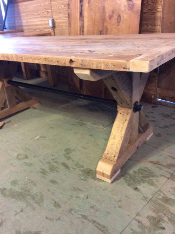 harvest dining tables trestle pedestal barn beam trestle live rh pinterest ca