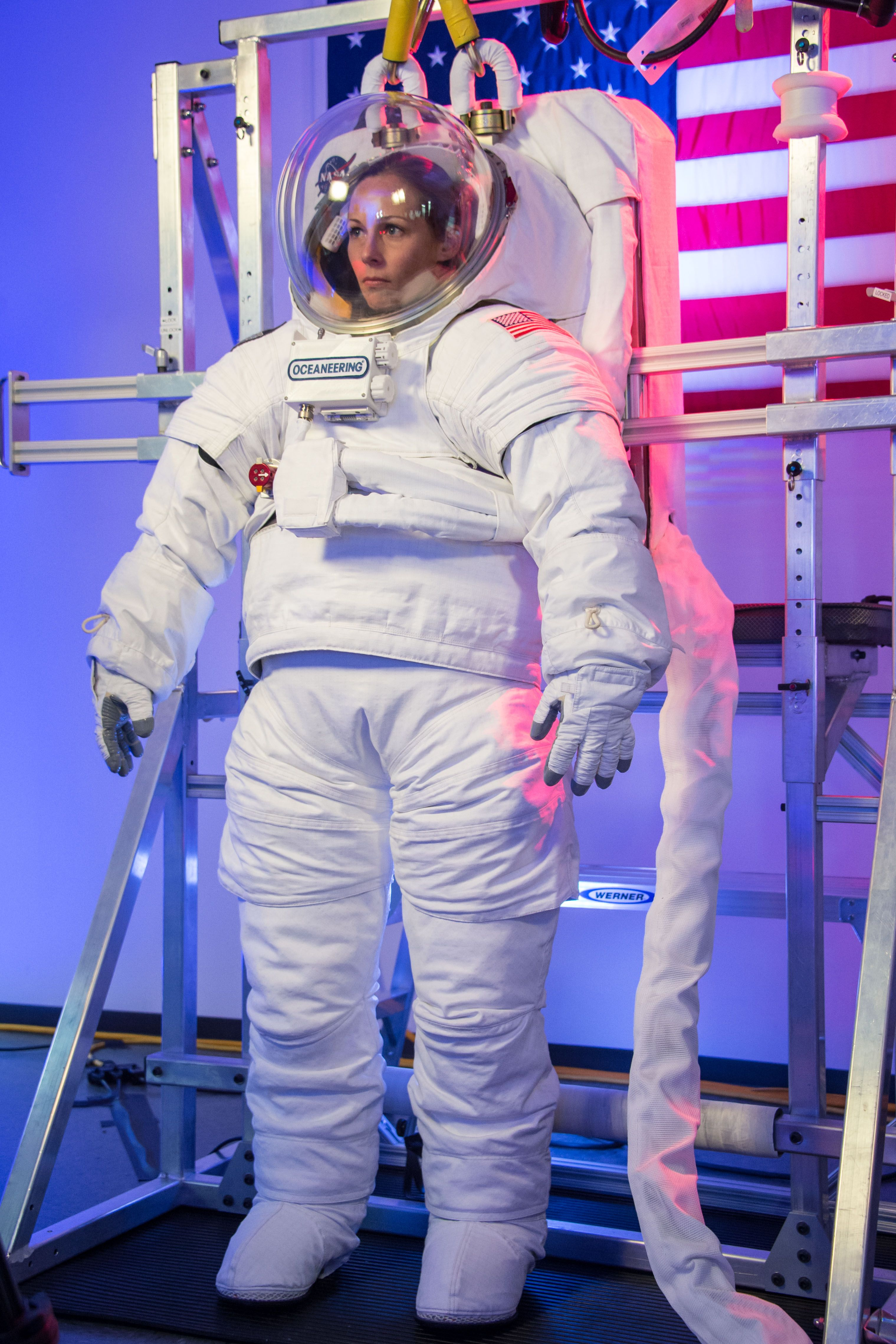 an astronaut in a space suit is motionless in outer space - photo #5