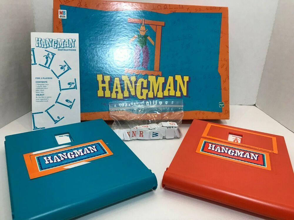 Details About Vintage Milton Bradley Hasbro Hangman Word