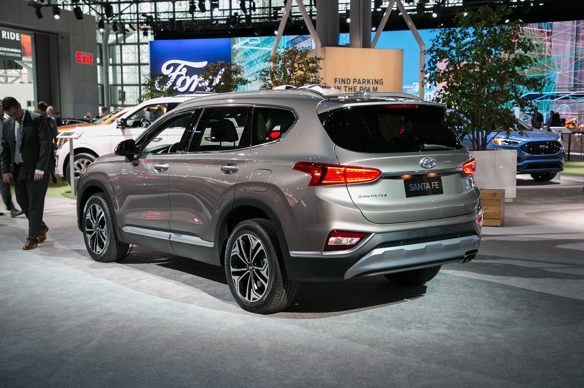 hyundai santa fe limited 2019 exterior and interior review all car rh pinterest com