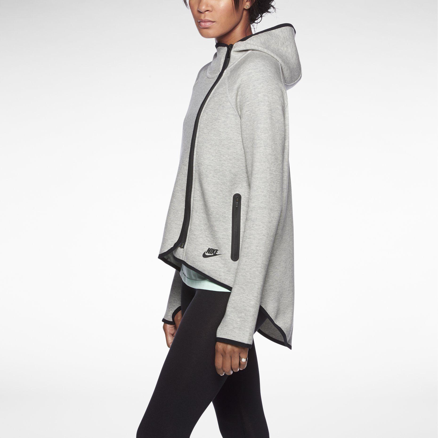 Nike Store Nike Tech Fleece Cape Women S Hoodie Nike Tech Fleece Fashion Trendy Tops [ 1860 x 1860 Pixel ]