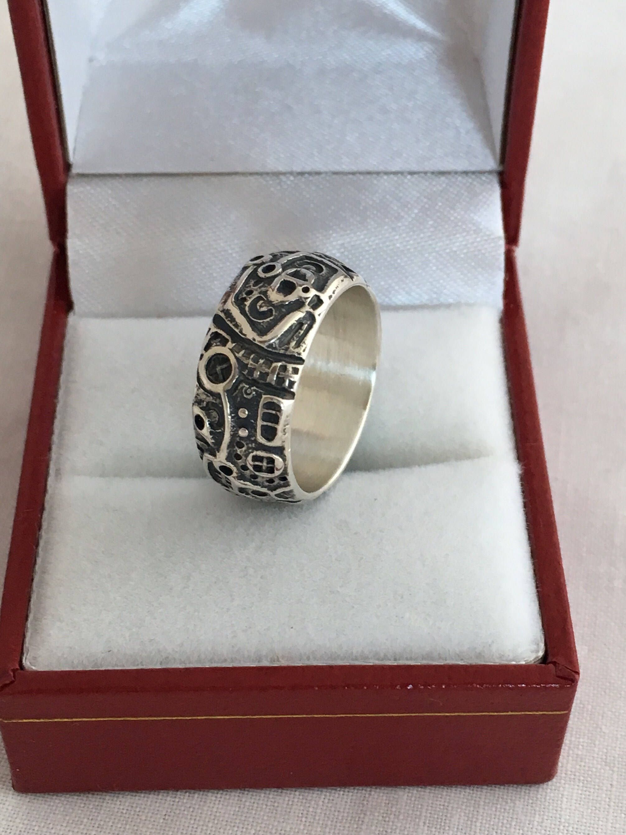 edf4b771a Excited to share the latest addition to my #etsy shop: Unique Storyteller  Sterling Silver 925 Ring Band Taille D Epergne Hallmark DLD Sterling Deeply  ...
