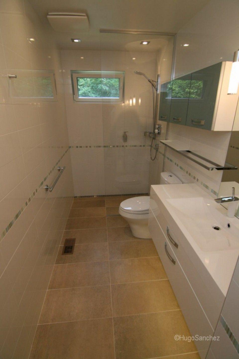 redoing bathroom%0A Curbless shower  C  ramiques Hugo Sanchez Inc