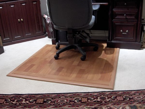 How To Make A Hard Surface Desk Mat For A Desk Chair On Carpet Hunker Chair Mats Desk Chair Mat Leather Dining Room Chairs