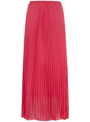 pink pleated maxi skirt by Dorothy Perkins