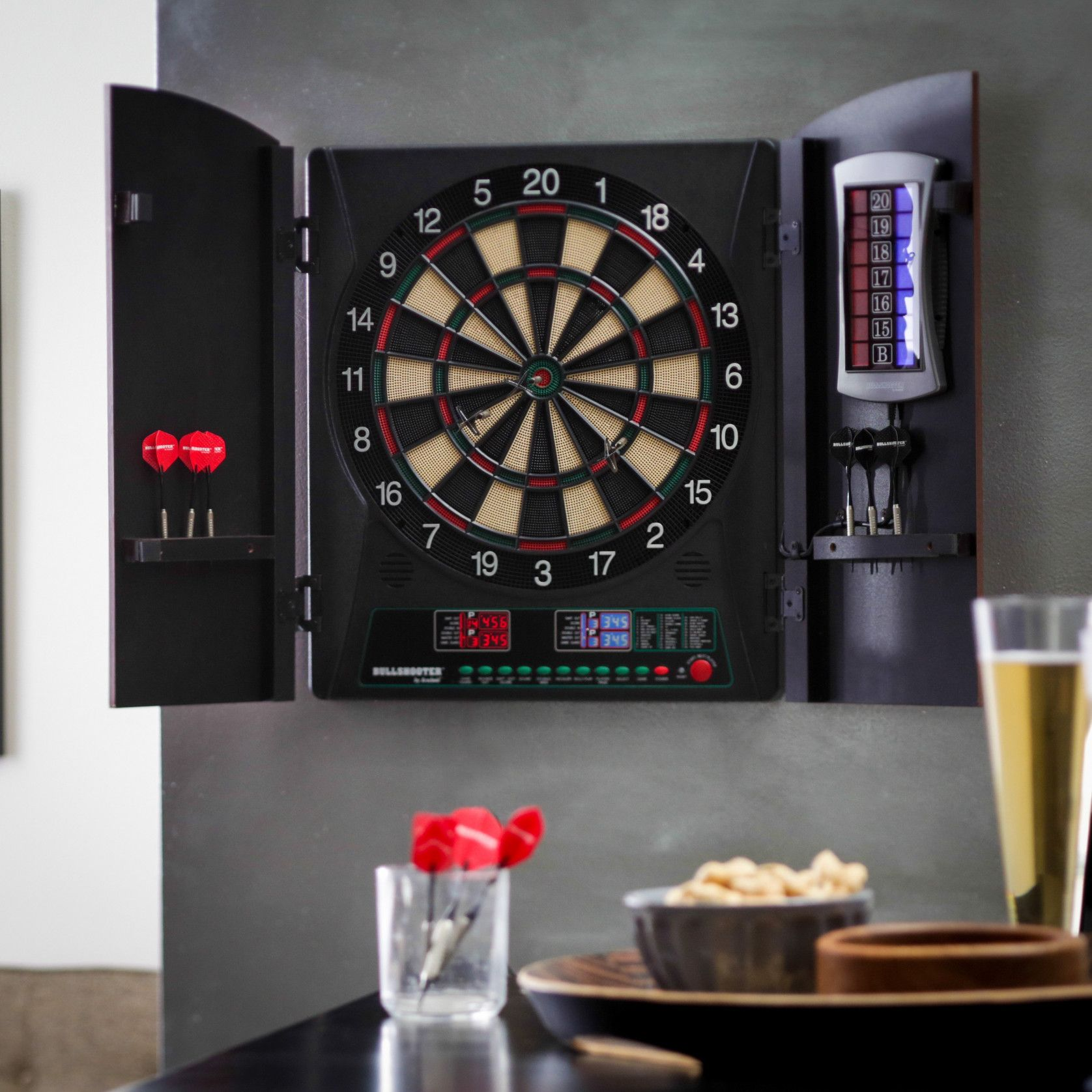 Good 2018 Electronic Dart Board Cabinet Set   Corner Kitchen Cupboard Ideas  Check More At Http: