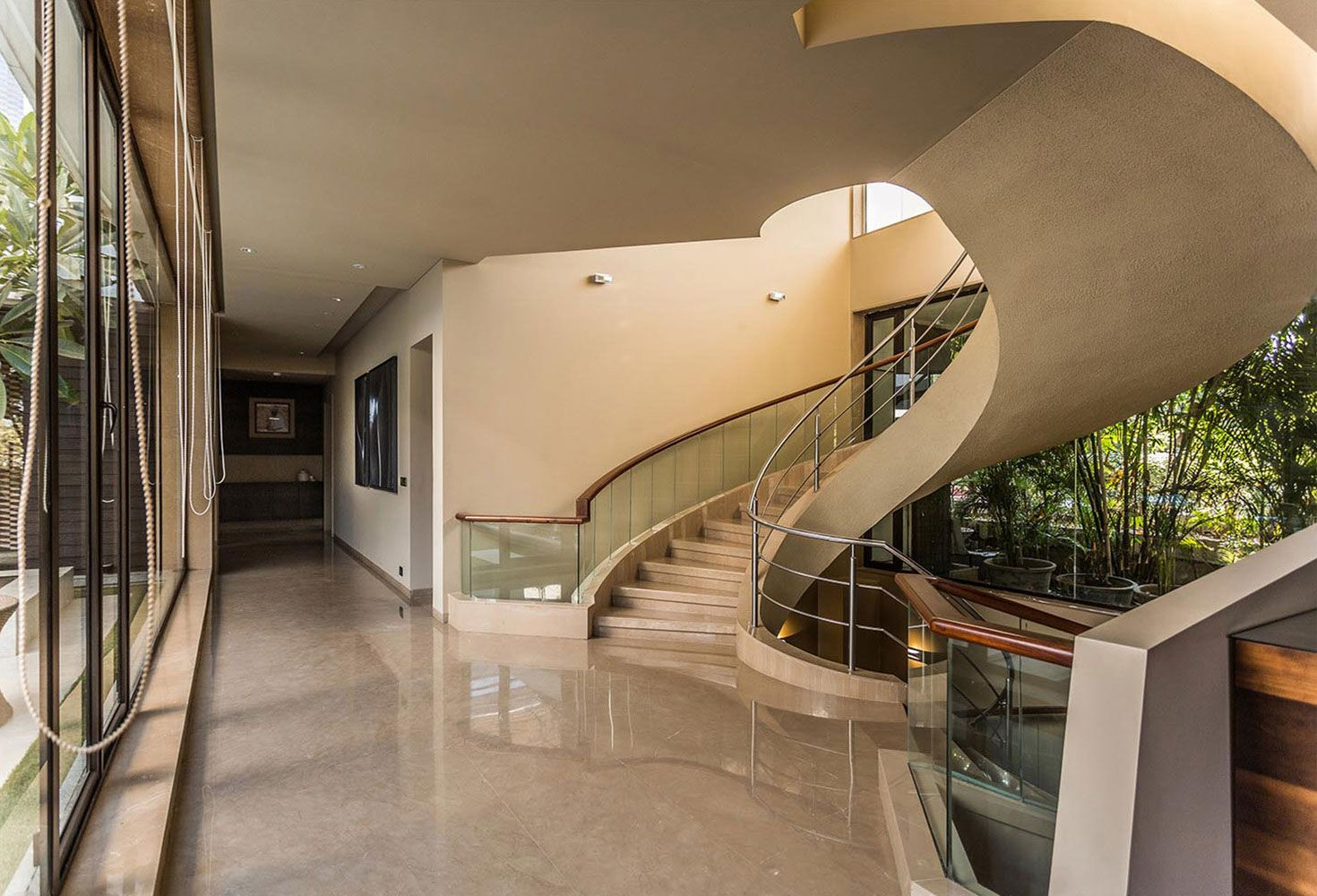 interior design of bungalow houses%0A Fantastic Bungalow Designed by KNS Architects in India