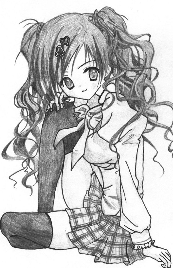 How Draw Cartoon Girl With Curly Hair Curl Stuff Girl