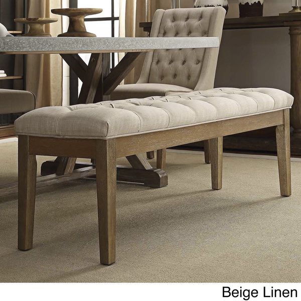 Signal Hills Benchwright Tufted Reclaimed 52 Inch Upholstered 20