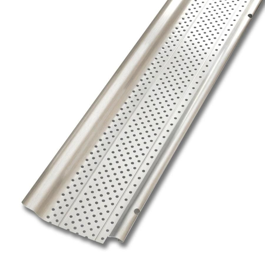 Smart Screen Aluminum Gutter Guard 5 In X 20 Ft Lowes Com In 2020 Gutter Guard Gutter Cleaner Gutter