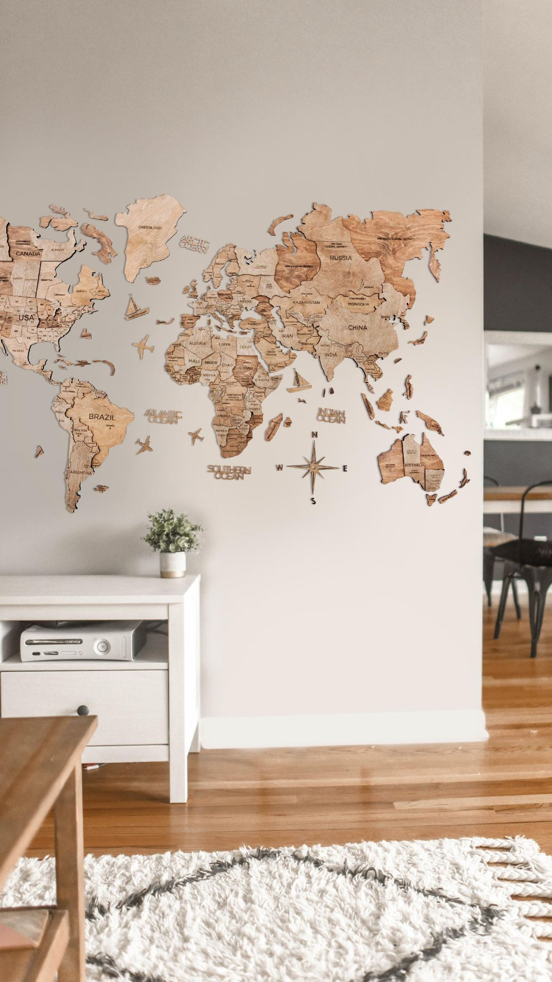 3D World Maps in 2020 World map, Wooden airplane, Wooden