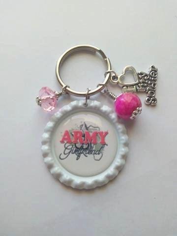 Army Girlfriend Key Chain by AleshasCraftRoom on Etsy