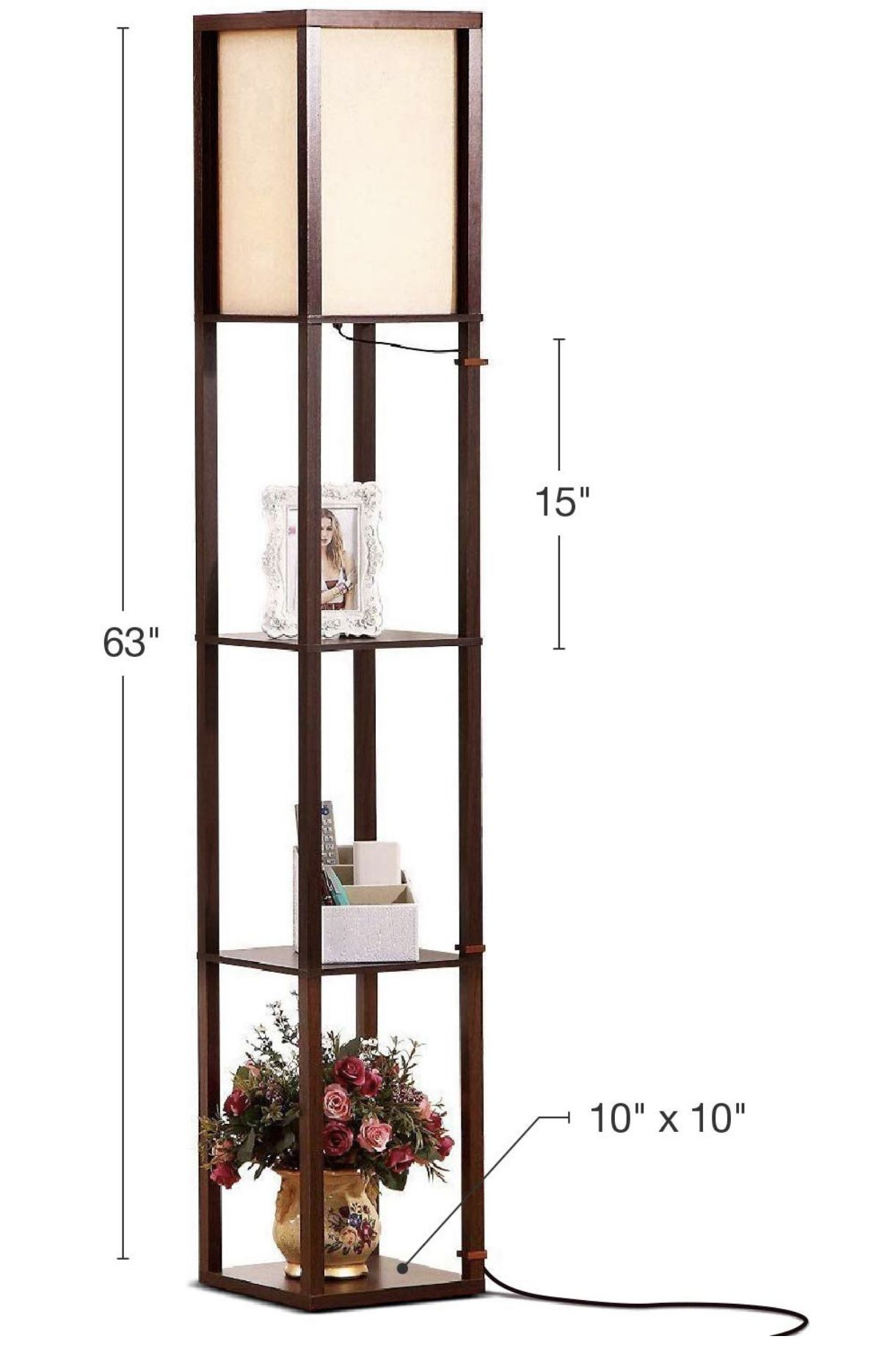 Led Shelf Floor Lamp For Living Room Bedrooms Floor Lamp With Shelves Contemporary Floor Lamps Modern Floor Lamps