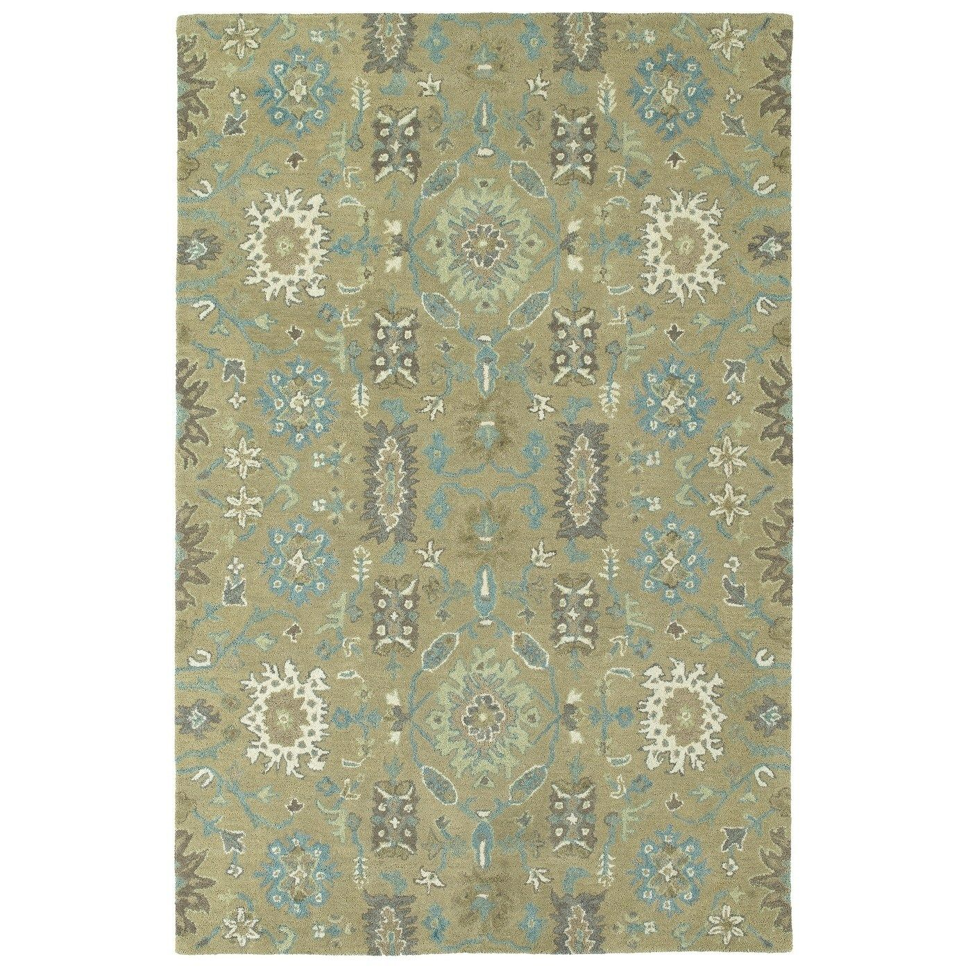 Hand Tufted Tannica Sage Wool Rug 8 X 10 Sage 8 X 10 Green Bombay Home Area Rugs Rugs Southwestern Area Rugs