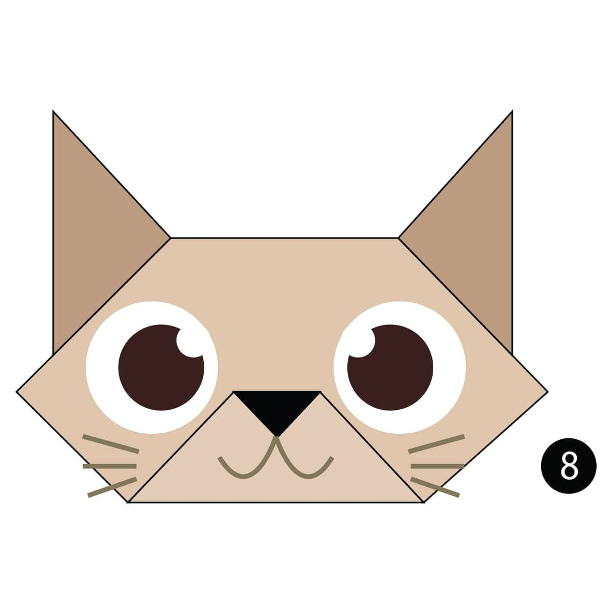 How to make a origami cat face - YouTube | 1200x1200