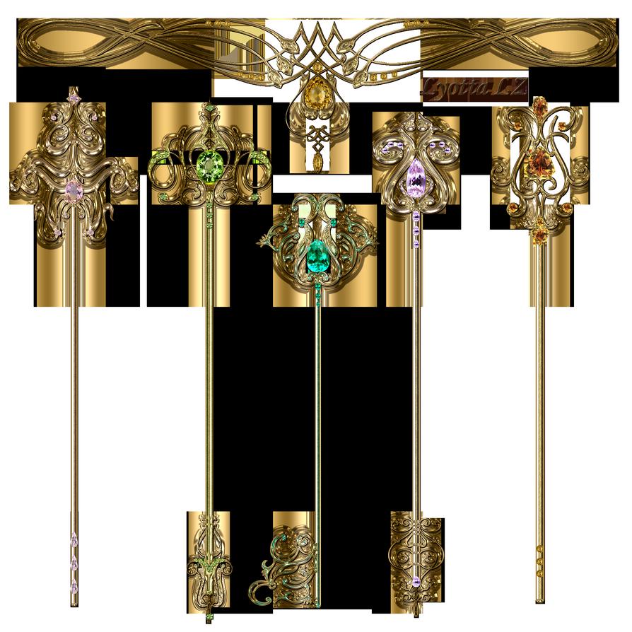 Gold Keys By Lyotta On Deviantart Gold Free Clip Art Shadow Art