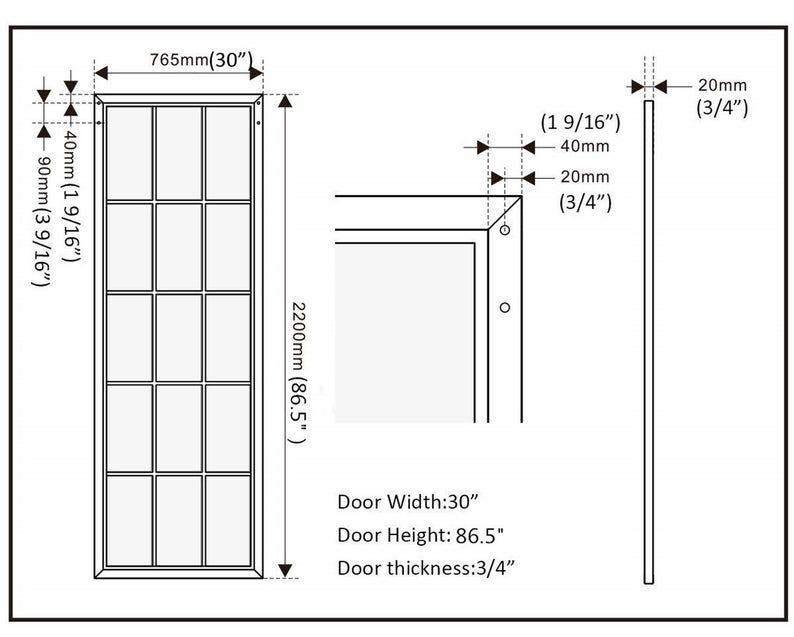 Diyhd 30 X 86 5 Inch Black Steel Framed Glass Barn Door Slab Etsy Glass Barn Doors Black Steel Frame Sliding Glass Door