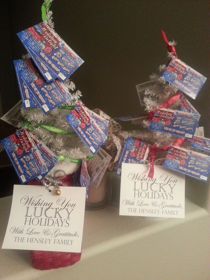Holiday gift for school\'a front office... Lottery ticket trees ...