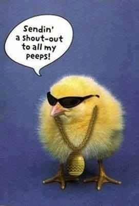 Sending Out A Shout Out To All My Peeps Easter Happy Easter Chic
