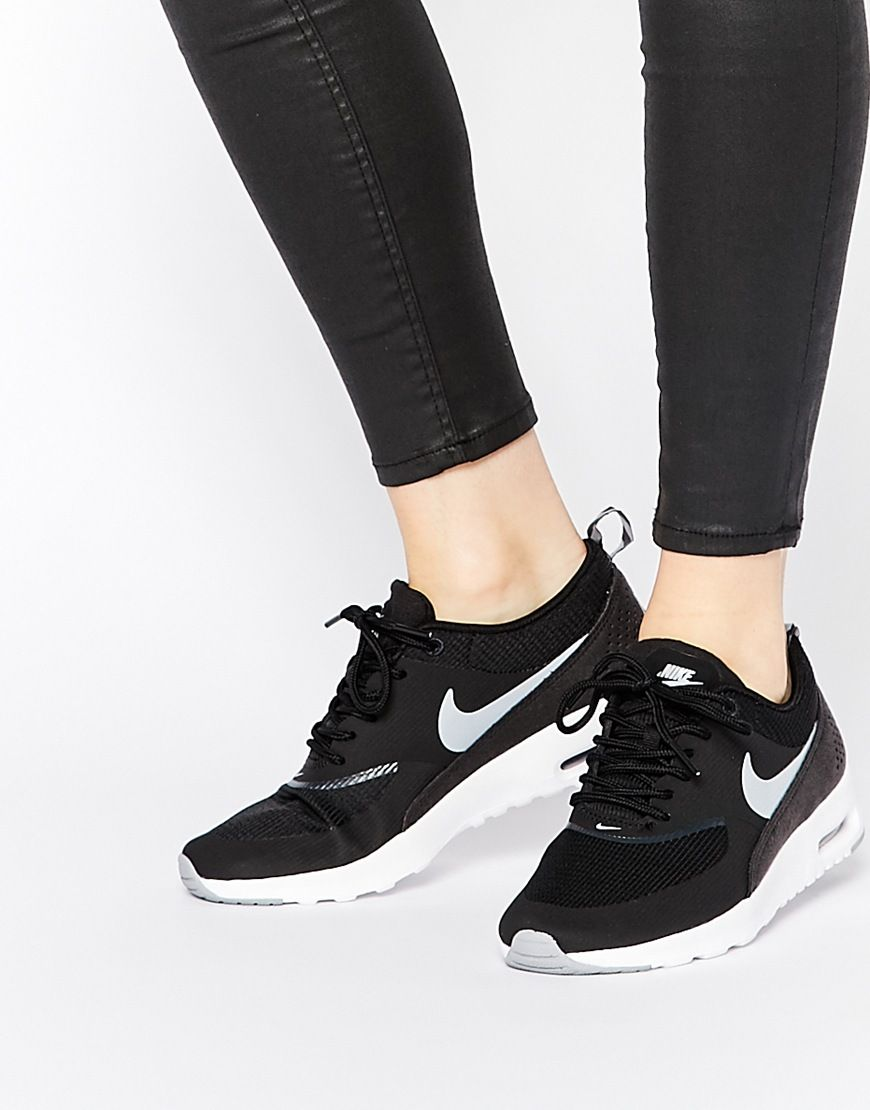 Image 1 of Nike Black Air Max Thea Trainers  4c1d76555e662