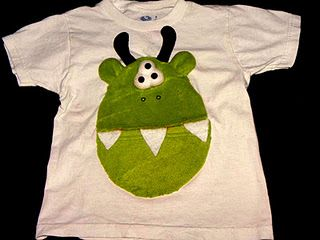 Monster Shirt-made from a cute hat