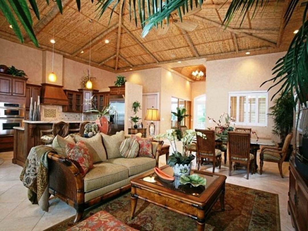 25 Beautiful Hawaiian Home Decorating Ideas That Will Make Your Home Amazing Tropical Living Room Tropical Home Decor Tropical Living