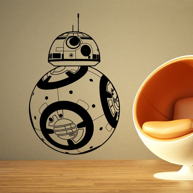 Find More Wall Stickers Information about Star Wars BB 8 Wall ...