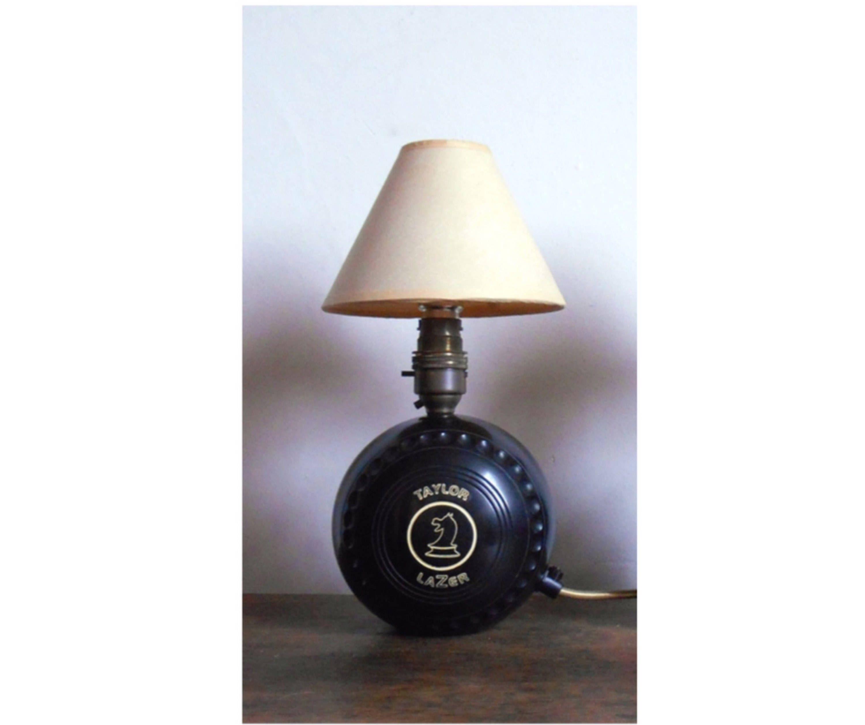 bowling ball lamp upcycled bespoke sport themed lighting home rh pinterest com