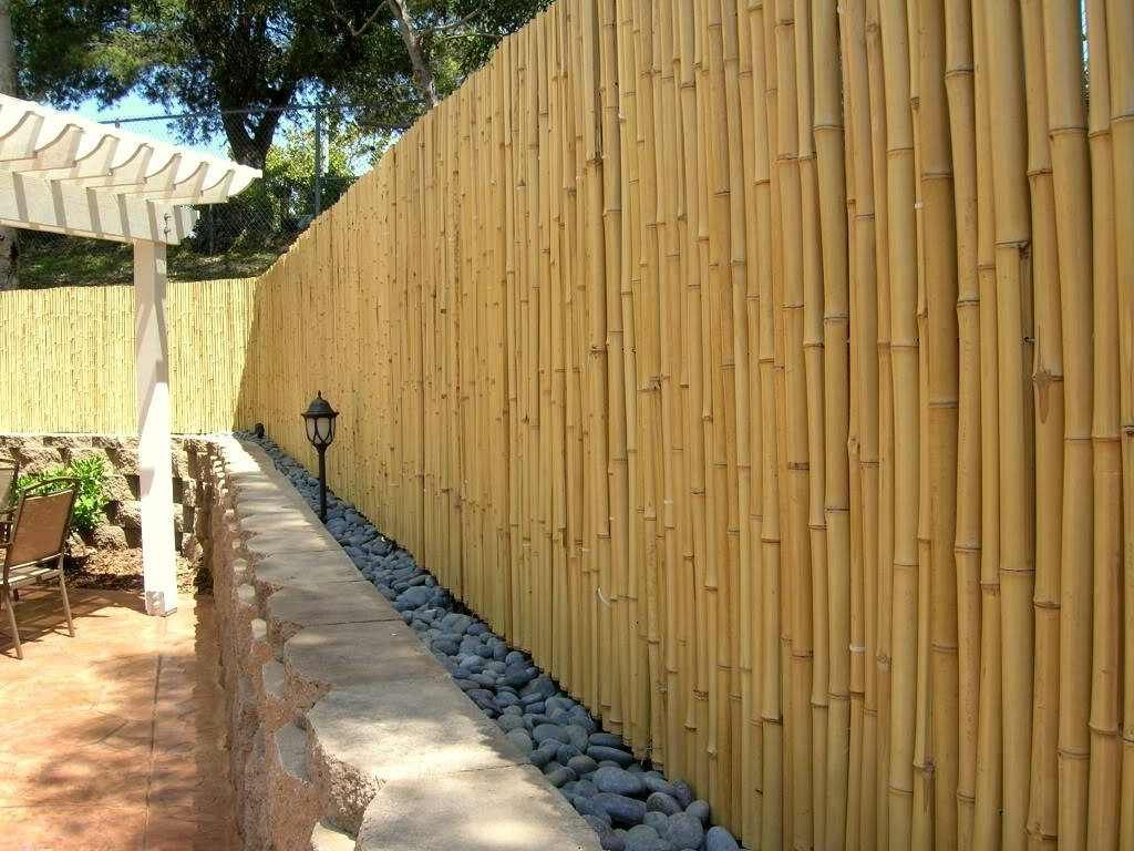 bamboo fence design ideas bamboo fencing privacy fence ideas garden ...