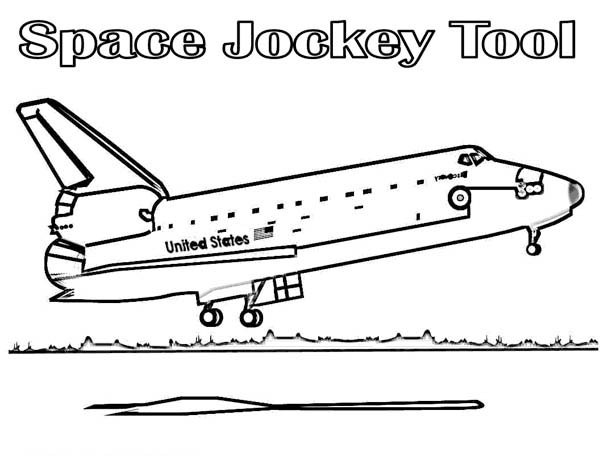Ausmalbild Space Shuttle - My Blog
