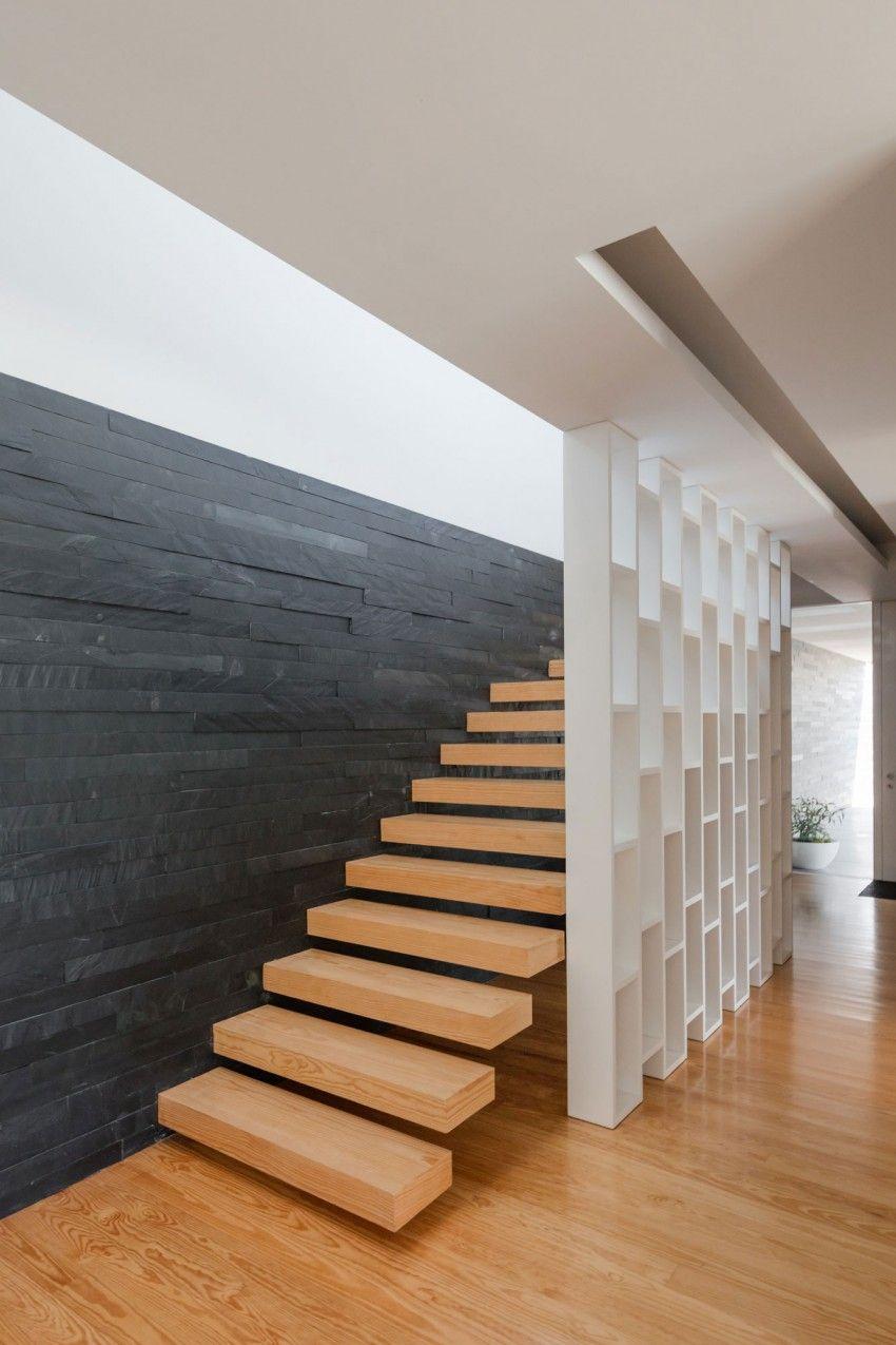 home interior design stairs%0A Raulino Silva Arquitecto Designs a Contemporary Home in Vila do Conde