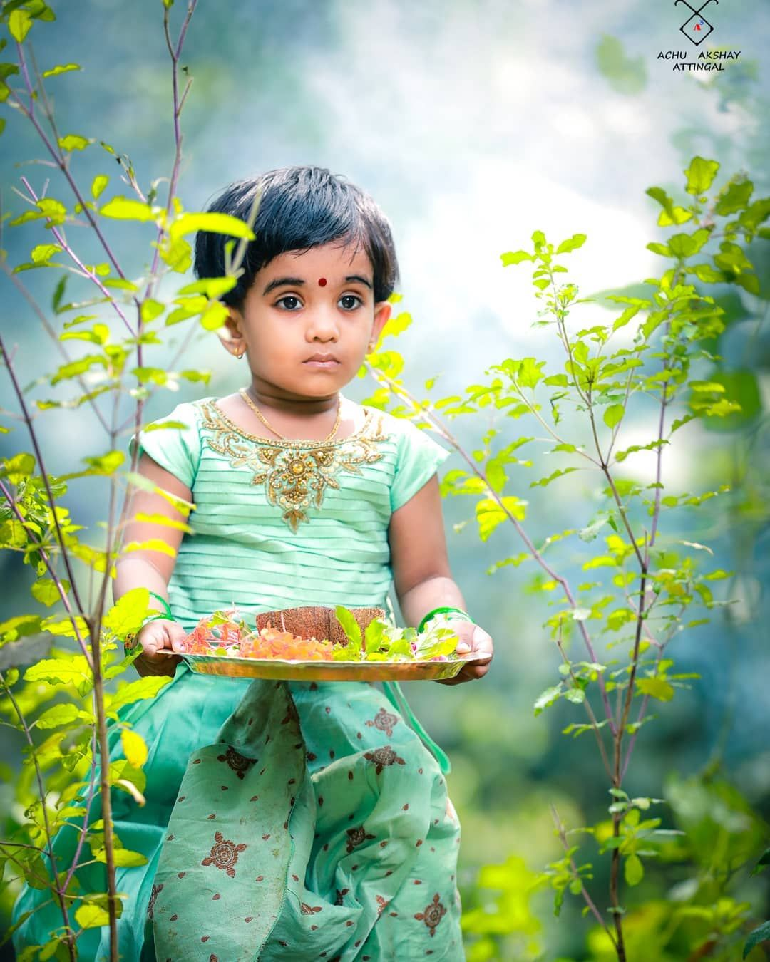 Image may contain 2 people child autumn photography children photography beautiful saree
