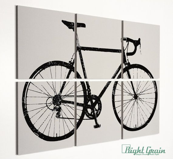 Bicycle Art Decor - Cyclist Gift Ideas - Unique Cycling ...