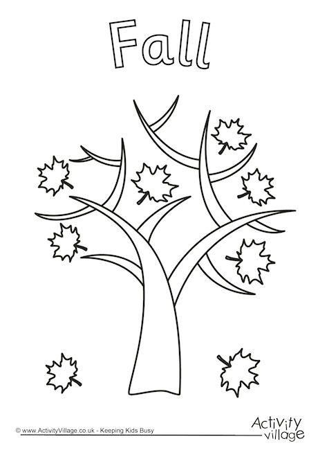 Fall tree colouring page   Homeschool   Pinterest   Fall trees and ...